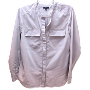 Gap Lilac Button Down Long Sleeve Blouse Size S